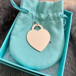 Tiffany & Co Silver Ultra Large Heart Tag Charm